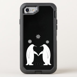 Penguins in Love with Snowflakes OtterBox Defender iPhone 7 Case