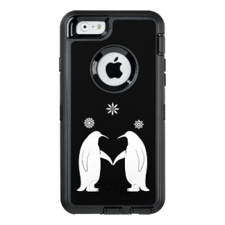 Penguins in Love with Snowflakes OtterBox Defender iPhone Case
