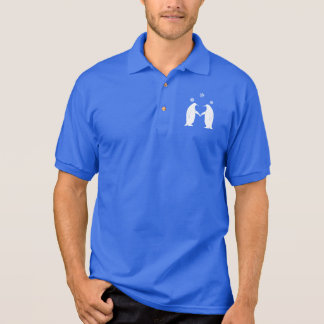 Penguins in Love with Snowflakes Polo Shirt