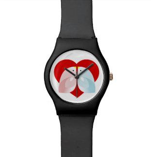 penguins in love wrist watch