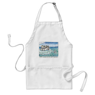 penguins in the face of danger adult apron