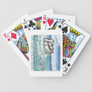 penguins in the face of danger bicycle playing cards