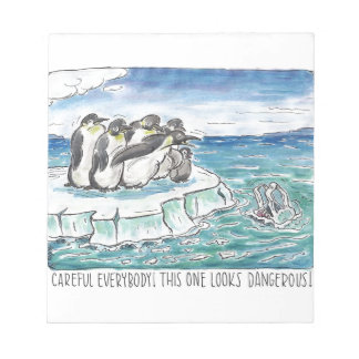 penguins in the face of danger notepads