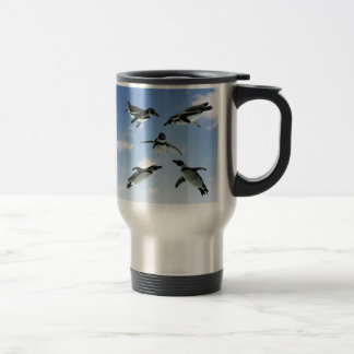 Penguins in the Sky 15 Oz Stainless Steel Travel Mug