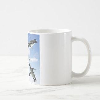 Penguins in the Sky Classic White Coffee Mug