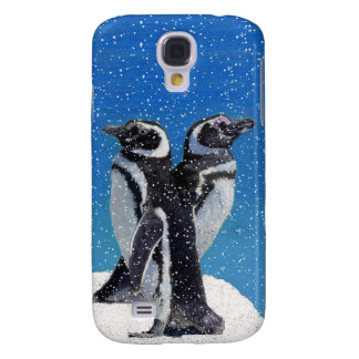 Penguins in the Snow Galaxy S4 Cases