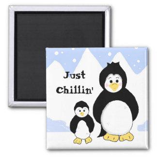 Penguins Just Chillin' Magnets