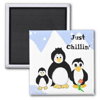 Penguins Just Chillin' Magnet
