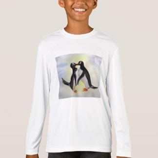 Penguins Kids' Sport-Tek  Fitted Long Sleeve T-Shirt