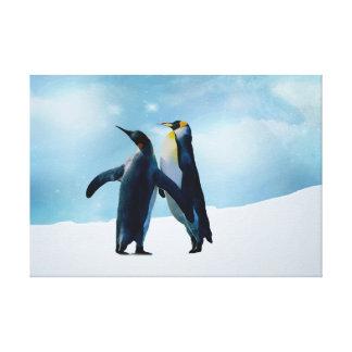 Penguins Live and let live Canvas Print
