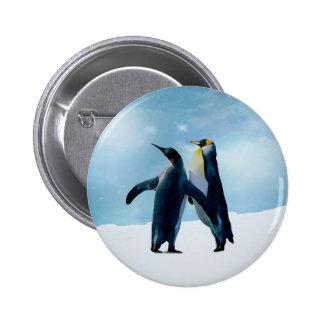 Penguins Live and let live Pinback Button