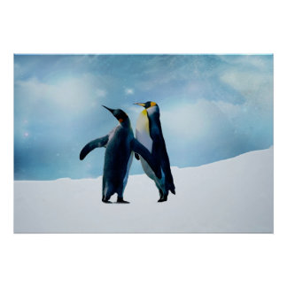 Penguins Live and let live Print