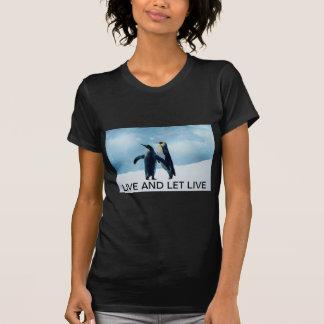 Penguins Live and let live T-Shirt