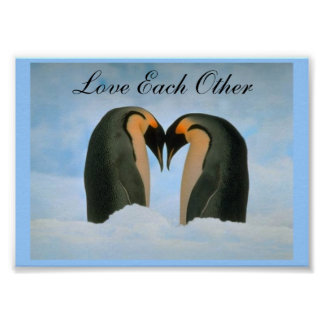 Penguins- Love Each Other Poster