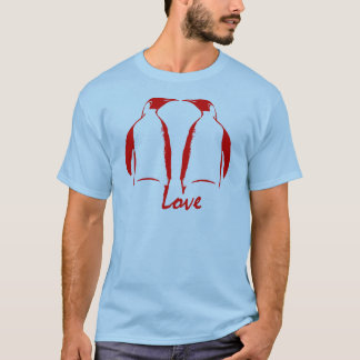 Penguins Love Red Kiss T-Shirt