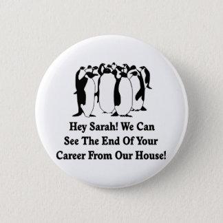 Penguins Message To Sarah Palin Pinback Button