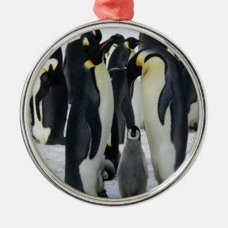 Penguins Metal Ornament