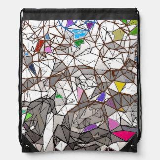 Penguins Mosaic Drawstring Backpack