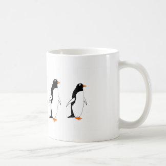 Penguins on a mug
