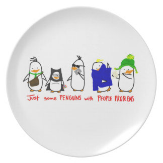 Penguins on a Plate