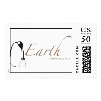 Penguins on Earth stamp