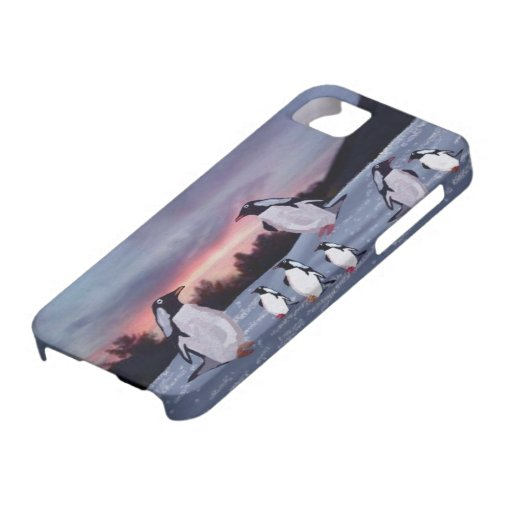 Penguins on Ice IPhone 5 Case