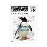 Penguins Penguin and Baby School Mascot Postage