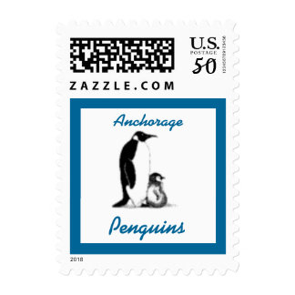 Penguins Penguin and Baby School Mascot Postage St