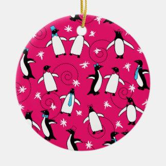 Penguin's Puttin' on the Ritz Ceramic Ornament