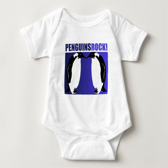 Penguins Rock! Baby Bodysuit