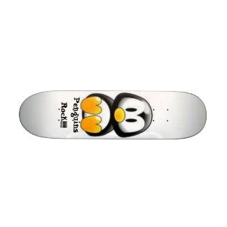 Penguins Rock!!!! Custom Skate Board