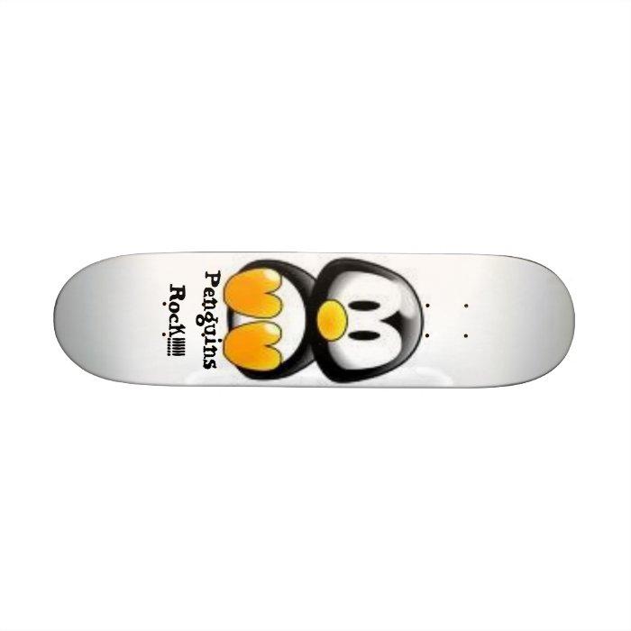 Penguins Rock!!!! Skateboard Deck