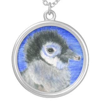 Penguins Round Pendant Necklace