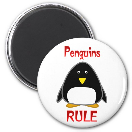 Penguins Rule Magnet