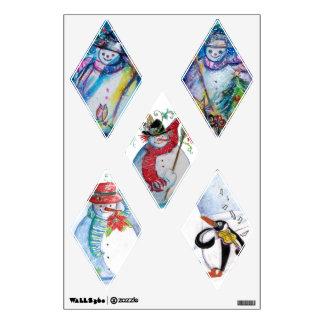PENGUIN'S SERENADE  RHOMBUS  SNOWMEN COLLECTION WALL STICKER