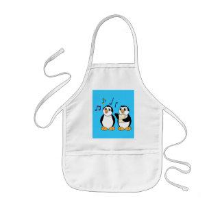 Penguins Singing Kids' Apron