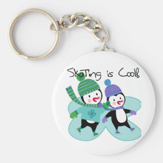 Penguins Skating is Cool Keychains