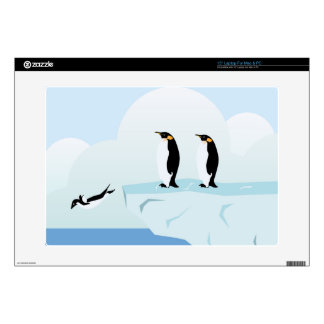 "Penguins Decal For 15"" Laptop"