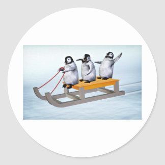 Penguins Sled Stickers