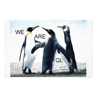 penguins stationery