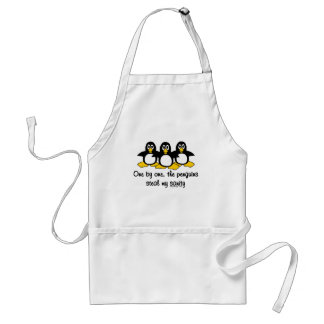 Penguins steal my sanity adult apron