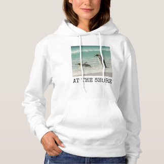 Penguins swimming on the beach hoodie