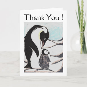 Penguin cards zazzle penguins thank you greeting card m4hsunfo