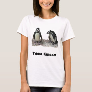 Penguins Think Green Earth Day Shirt