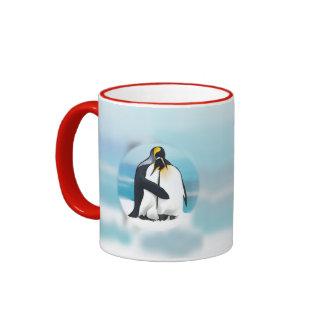 Penguins Through The Igloo Ringer Mug