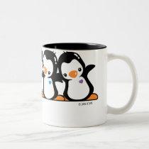 Penguins Two-Tone Coffee Mug