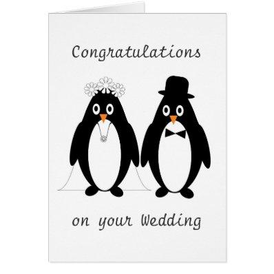 Penguins Wedding Cards