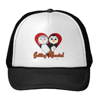 Penguins Wedding Heart Getting Married Trucker Hat
