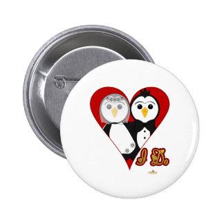 Penguins Wedding Heart I Do Pin