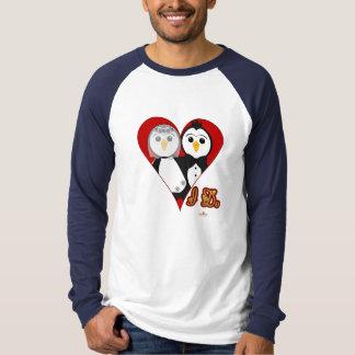 Penguins Wedding Heart I Do T-Shirt